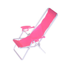 Mobili per casa di bambole Pieghevole sedia a sdraio Barbie Beach Chair WFIT