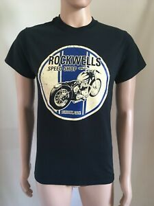 Rockwells Speed Shop Triumph Bobber So Cal  Head T Shirt with back print
