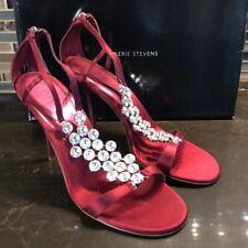 Valerie Stevens Deco bling burgundy fancy heels