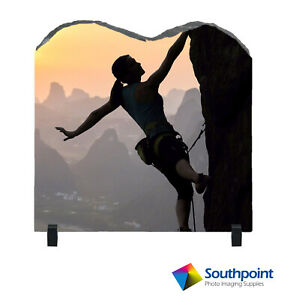 """Photo Slate Large M Shape 12"""" Sublimation Blank with Stand"""