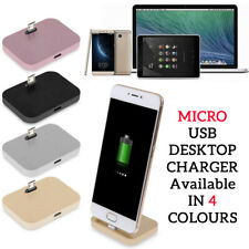 MICRO USB Dock Charger Station Desktop Charging Stand For SAMSUNG A10/S7/S6