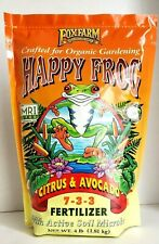 Happy Frog Citrus Avocado Organic Garden Fertilizer 4lb Bag NEW Active Microbes