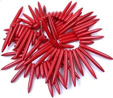 18-40mm Red Turquoise Graduated Spike Stick drop Beads 16""