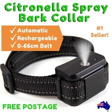2019 CITRONELLA SPRAY BARK COLLAR Automatic Rechargeable Adjustable NECK 0-66cm