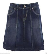 Denim Patternless Casual Regular Size Skirts for Women