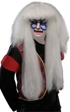 Adult Long White Kabuki Wig Japanese Male Drama Ninja Asian Costume Mens Cosplay
