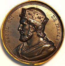 France Medal. Roi de France. Louis VI Dit Le Gros 1077-1108 . Fils de Philippe