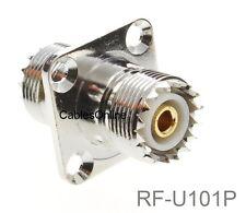 UHF SO239 Female to Female 4-Hole Panel Mount Coupler, CablesOnline RF-U101P