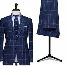 Custom Made Men Wedding Groom Plaid Suits Formal Business Man Best Man Tuxedos