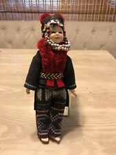 Napalese Doll Nepal Porcelain Hand Stitched Clothing