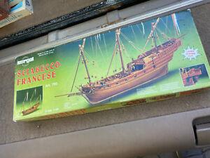 Laser Cut Sergal Mantua Sciabocco Francaise Wooden Ship Model Plank On Frame