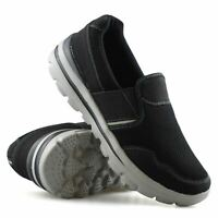 Mens Casual Slip On Memory Foam Walking Running Sports Gym Trainers Shoes Size
