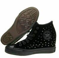 Womens Converse CTAS Lux Mid Hidden Platform Wedge Black 558975C Multi Sizes NWB