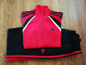 Adidas Tracksuit Sports Tracksuit Top Tracksuit Bottoms Red Black New
