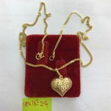 Gold Authentic 18k saudi gold heart necklace,,e