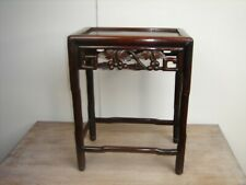 Late Victorian Chinese Rosewood Side Table Carved fretted Frieze circa 1870