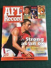 Vintage VFL/AFL 1999 Football Record Geelong V Sydney