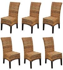 KMH® 6 Set Esszimmerstühle Rattanstühle Korbstühle Essstühle Stühle Stuhlgruppe