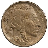 1913-D Ty1 Buffalo Nickel - Nice Almost Uncirculated Condition, First Year Issue