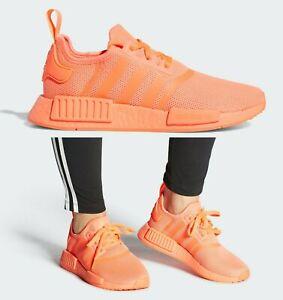 Adidas Originals NMD_R1 Signal Coral Orange Women's Casual Running Shoes FX0827