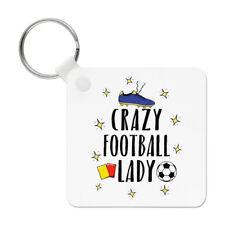 Crazy Football Lady Keyring Key Chain - Funny Soccer