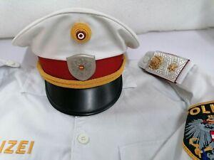 Polizei Österreich Abteilungsinspektor Hemd und Tellerkappe Austrian Police