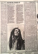 BOB MARLEY Uprising album review 1980 UK ARTICLE / clipping