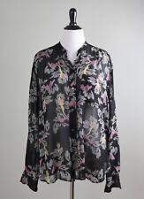 ISABEL ETOILE MARANT $315 Semi Sheer Geo Floral Print Shirt Top Size 42