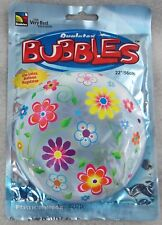 Qualatex Bubbles 22 Inch Balloon Flowers Party Supplies Birthday Mothers Day