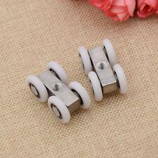 2 Pcs Sliding Door Rollers 4 Wheels Hanging Home Door Accessories Hardware