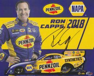 2018 Ron Capps signed Pennzoil Napa Dodge Charger FC Las Vegas NHRA postcard