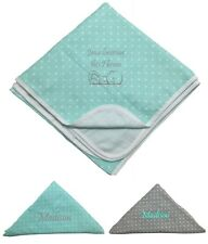 NEW! Personalized 4-Ply Muslin Blanket & Swaddle Set! Jesus Love Me ~ With Name