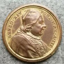 Medaglia Vaticano Benedetto XIV 1742 Fides Publica 32mm 10,03gr