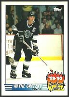 WAYNE GRETZKY 1990 Topps TEAM SCORING LEADERS Los Angeles Kings #12