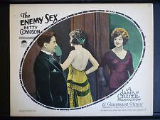 1924 THE ENEMY SEX - SILENT EXPLOITATION - RARE EXC COND LOBBY CARD
