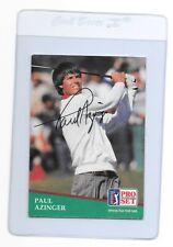 PAUL AZINGER Signed 1991 PRO SET Golf Card #86 1993 PGA Champion FSU Seminoles
