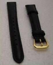 Cinturino orologio donna vera pelle nero 14 mm nuovo