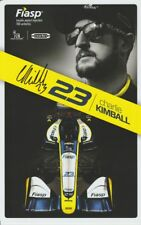 2018 Charlie Kimball signed Fiasp Chevy Dallara Indy 500 Indy Car postcard