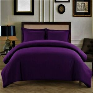 1000 TC Super Egyptian Cotton Scala Bedding Collection All  Sizes & Purple Solid