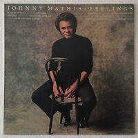 JOHNNY MATHIS ~ FEELINGS ~ 1975 UK 10-TRACK VINYL LP RECORD ~ CBS 69180
