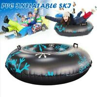 Inflatable Snow Tube Heavy Duty Freeze-Resistant Large Snow Sled Winter Outdoor