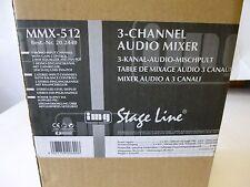 IMG Stage Line MMX-512 / 3 Kanal Audio Mischpult Mixer 20.2440