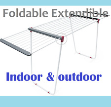 Reliable Foldable, Extendable Clothes Drying Rack line Free Standing Dryer Airer
