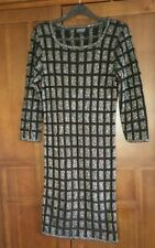 Topshop Black Metallic Yarn Design Dress Size 10 New