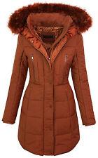 Designer damen winter jacke übergangs steppjacke warm kapuze fellkragen D-209