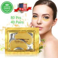 80pc 24K Gold Crystal Collagen Eye Mask Patch Gel Wrinkle Anti Aging Dark Circle