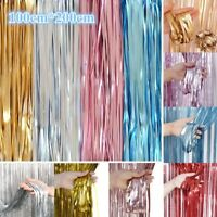 1*2m Shiny Fringe Curtain Wedding Party Birthday Photography Festival Room Decor