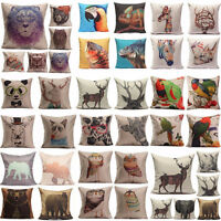 Animal World Home Decor Linen Pillow Case Sofa Waist Throw Cushion Cover