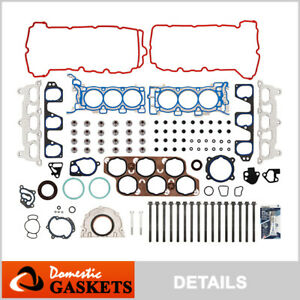 Fits 08-09 Pontiac G8 3.6L 24-Valve DOHC MLS Full Gasket Set Bolts VIN 7