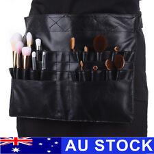 28 Pockets Pro PU Cosmetic Makeup Brush Apron Bag Pouch Artist Belt Strap AU
